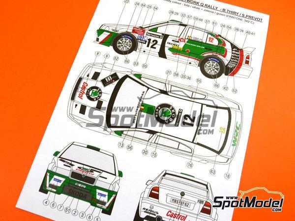Image 24: Skoda Octavia WRC Castrol - Great Britain RAC Rally 1999 | Model car kit in 1/24 scale manufactured by Reji Model (ref.REJI-2408B, also 2408B)