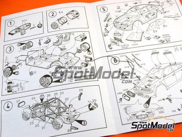 Image 26: Skoda Octavia WRC Castrol - Great Britain RAC Rally 1999 | Model car kit in 1/24 scale manufactured by Reji Model (ref.REJI-2408B, also 2408B)