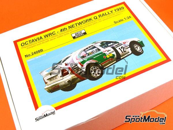 Image 29: Skoda Octavia WRC Castrol - Great Britain RAC Rally 1999 | Model car kit in 1/24 scale manufactured by Reji Model (ref.REJI-2408B, also 2408B)