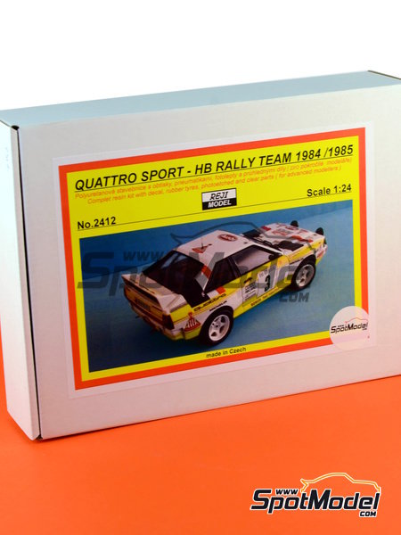 Audi Quattro Sport HB - Montecarlo Rally, Sanremo Rally 1984 and 1985 | Model car kit in 1/24 scale manufactured by Reji Model (ref. REJI-2412) image