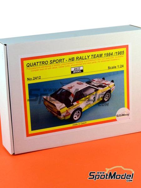 Audi Quattro Sport HB - Montecarlo Rally, Sanremo Rally 1984 and 1985 | Model car kit in 1/24 scale manufactured by Reji Model (ref.REJI-2412, also 2412) image