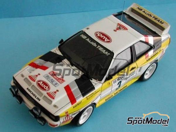 Image 3: Audi Quattro Sport HB - Montecarlo Rally, Sanremo Rally 1984 and 1985 | Model car kit in 1/24 scale manufactured by Reji Model (ref.REJI-2412, also 2412)