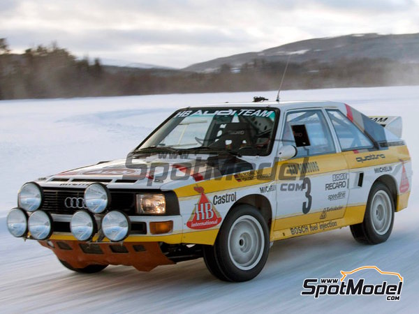 Image 4: Audi Quattro Sport HB - Montecarlo Rally, Sanremo Rally 1984 and 1985 | Model car kit in 1/24 scale manufactured by Reji Model (ref. REJI-2412)