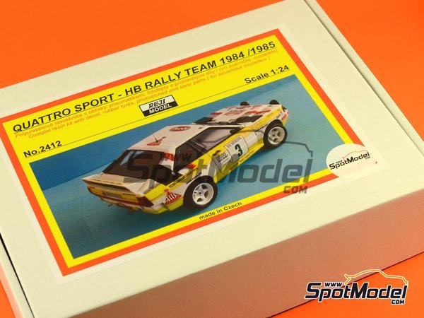 Image 24: Audi Quattro Sport HB - Montecarlo Rally, Sanremo Rally 1984 and 1985 | Model car kit in 1/24 scale manufactured by Reji Model (ref.REJI-2412, also 2412)