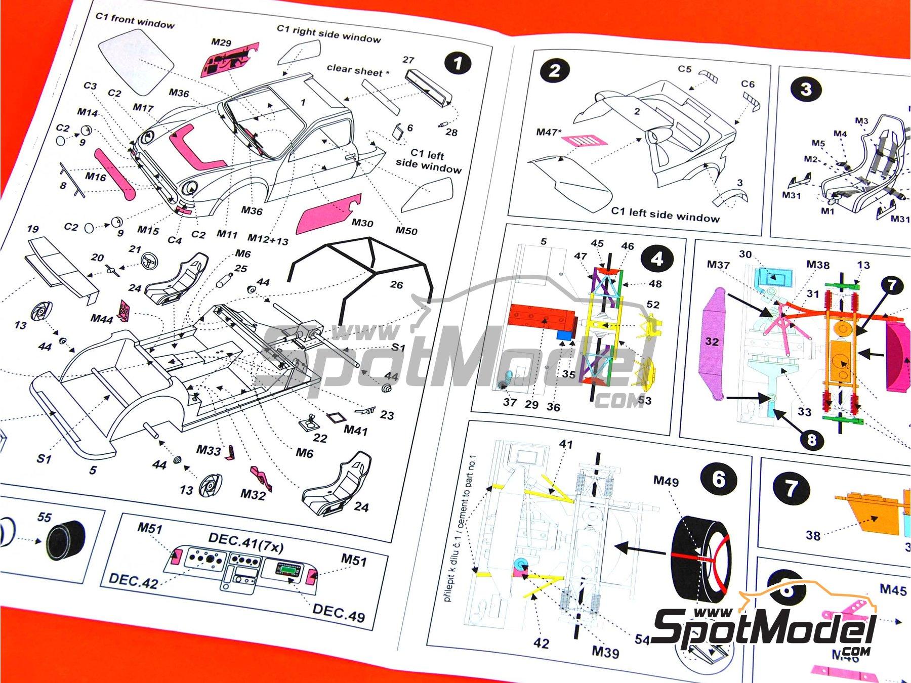 reji model model car kit 1 24 scale ford rs200 group b shell image 3 ford rs200 group b rac rally 1986 model car kit in