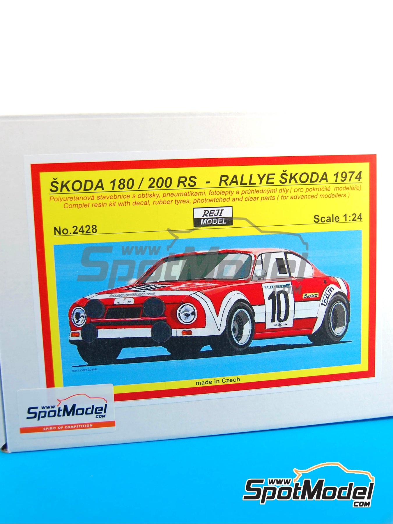 Skoda 180 / 200 RS - Rally Skoda 1974 | Model car kit in 1/24 scale manufactured by Reji Model (ref. REJI-2428) image