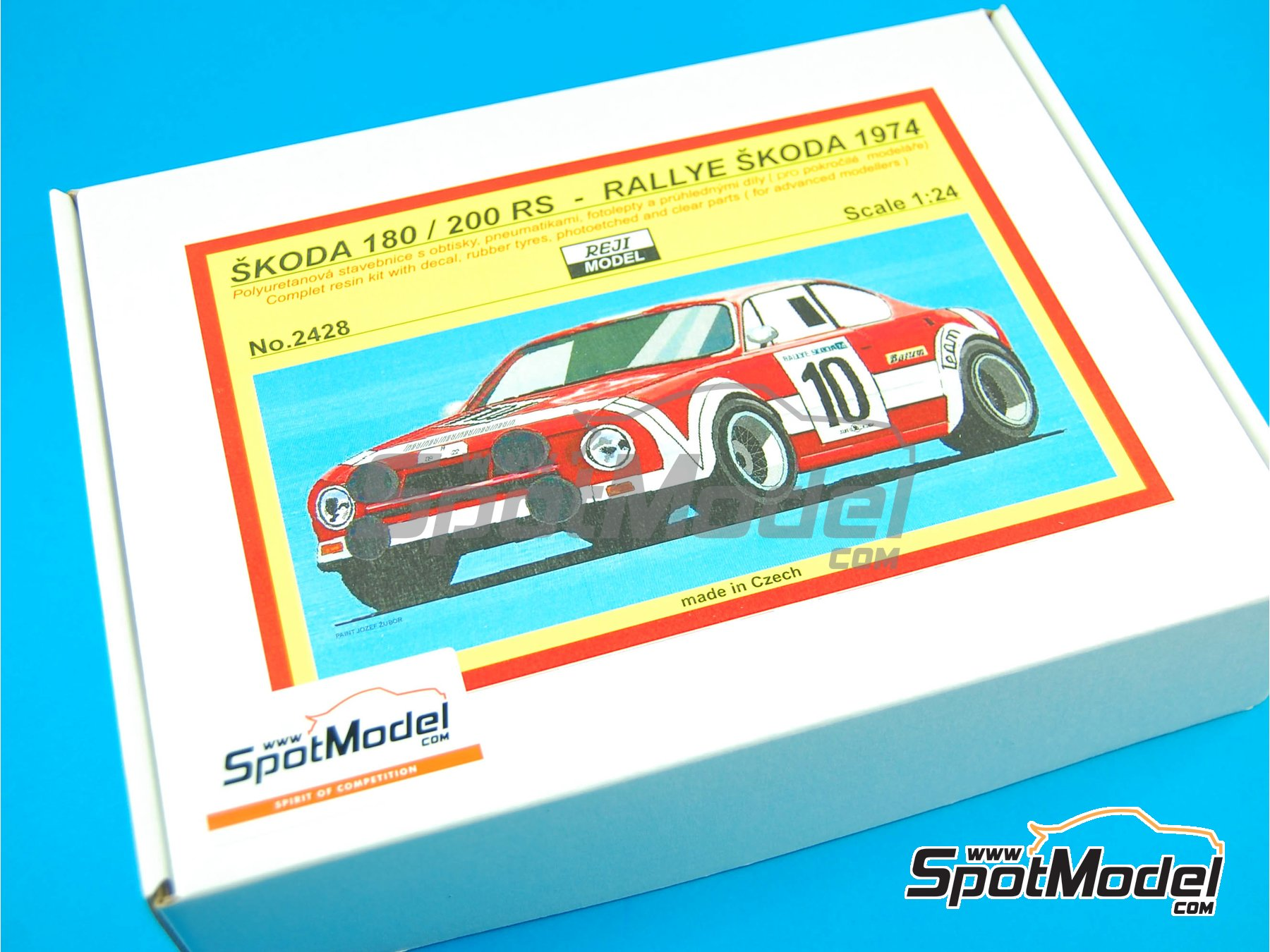 Image 1: Skoda 180 / 200 RS - Rally Skoda 1974 | Model car kit in 1/24 scale manufactured by Reji Model (ref. REJI-2428)