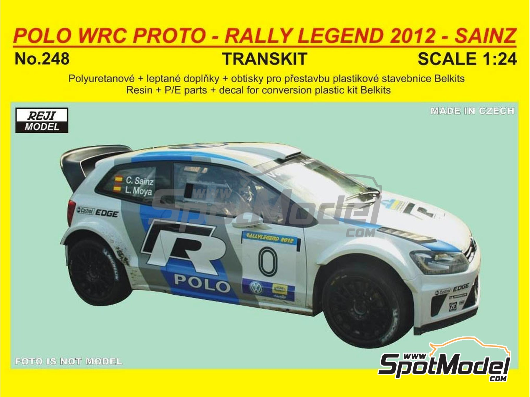 Image 1: Volkswagen Polo R Proto - Rally Legend Repubblica di San Marino 2012 | Marking / livery in 1/24 scale manufactured by Reji Model (ref. REJI-248)