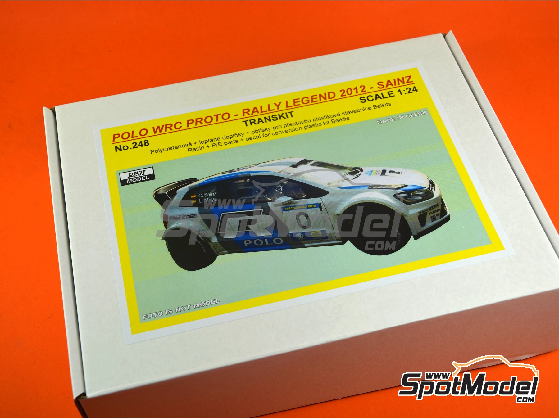 Image 14: Volkswagen Polo R Proto - Rally Legend Repubblica di San Marino 2012 | Marking / livery in 1/24 scale manufactured by Reji Model (ref. REJI-248)