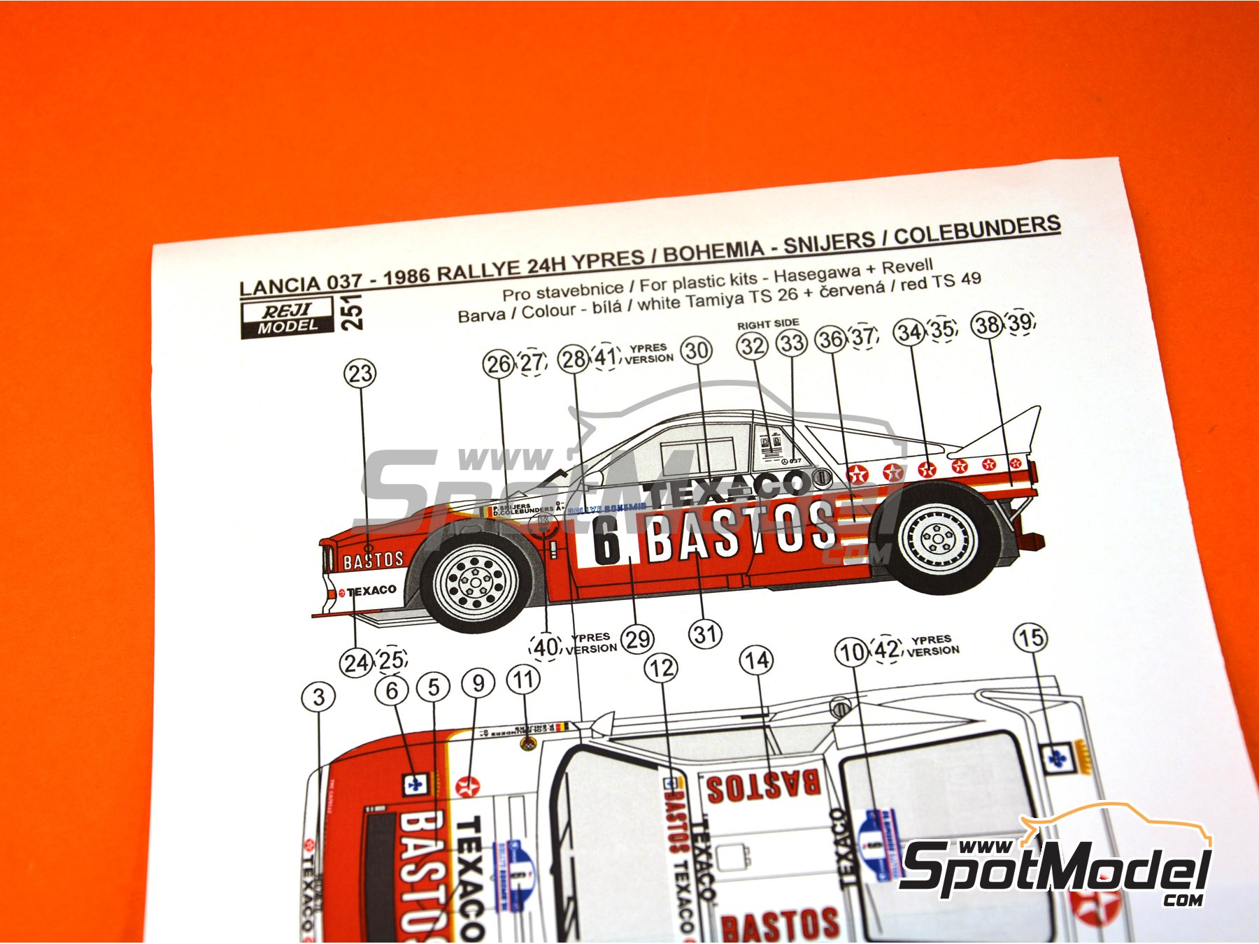 Image 4: Lancia 037 Rally - Bohemia rally, Ypres Rally 1986 | Marking in 1/24 scale manufactured by Reji Model (ref. REJI-251)