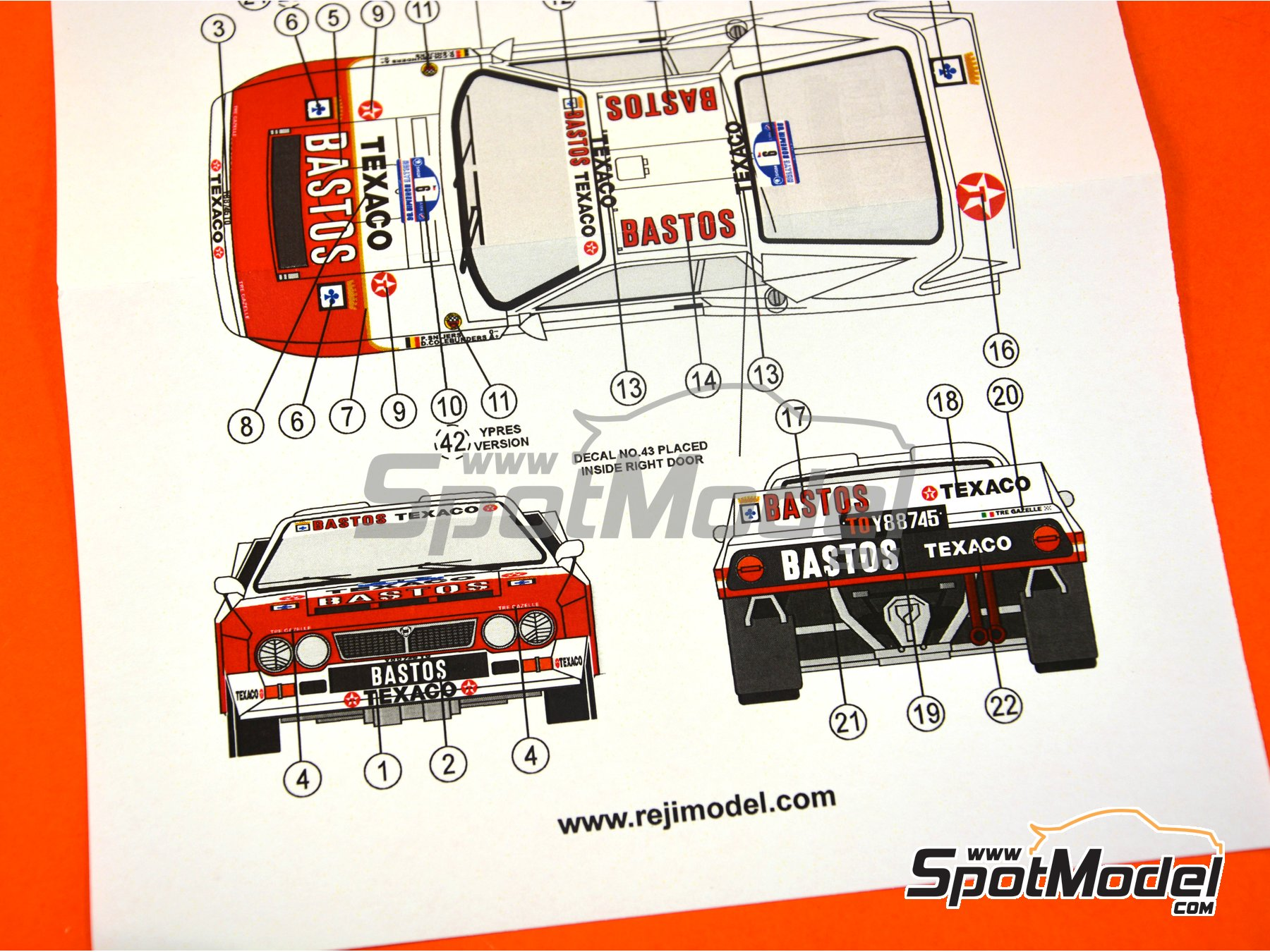 Image 5: Lancia 037 Rally - Bohemia rally, Ypres Rally 1986 | Marking in 1/24 scale manufactured by Reji Model (ref. REJI-251)