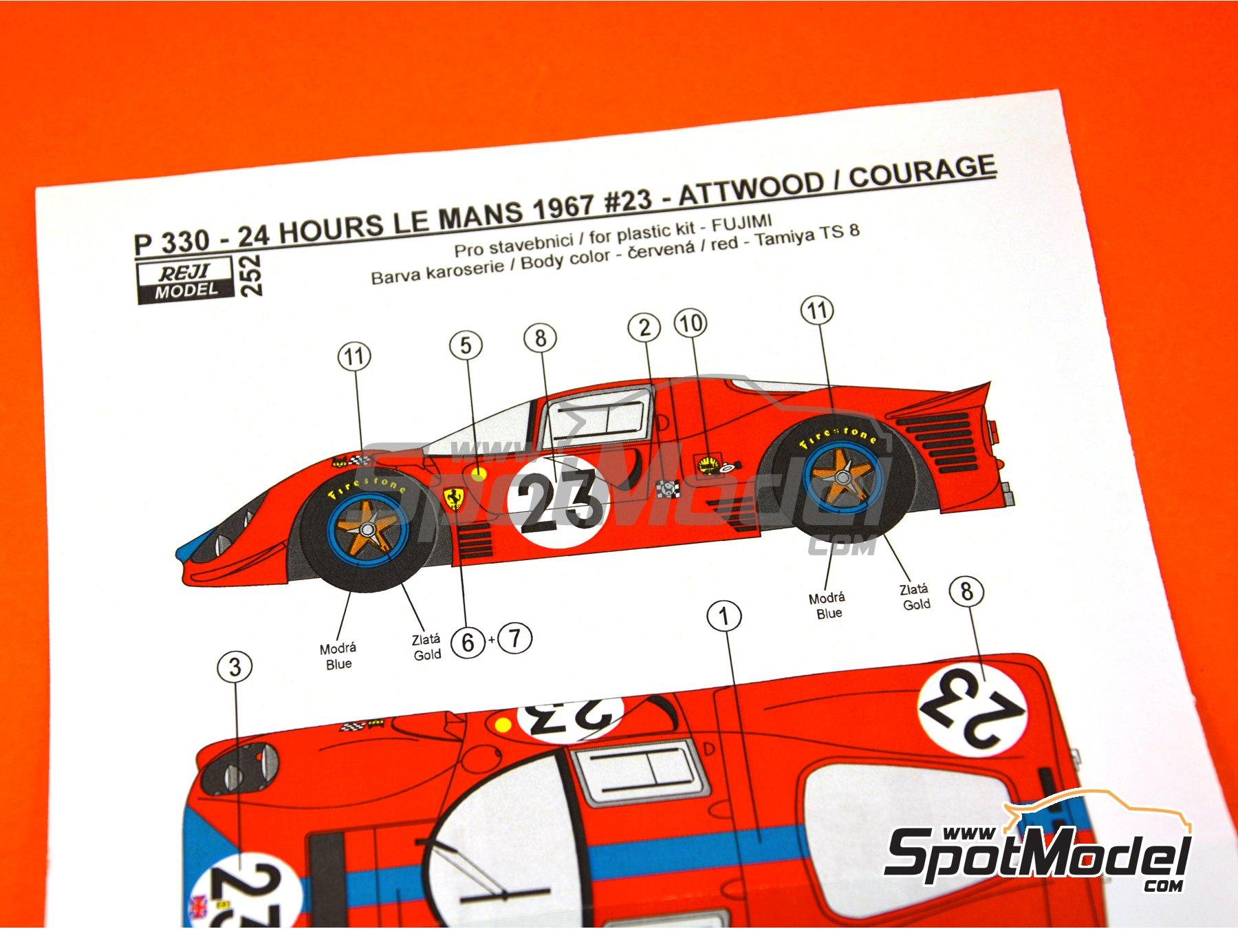 Image 2: Ferrari 330 P4 - 24 Horas de Le Mans 1967 | Decoración en escala1/24 fabricado por Reji Model (ref.REJI-252)