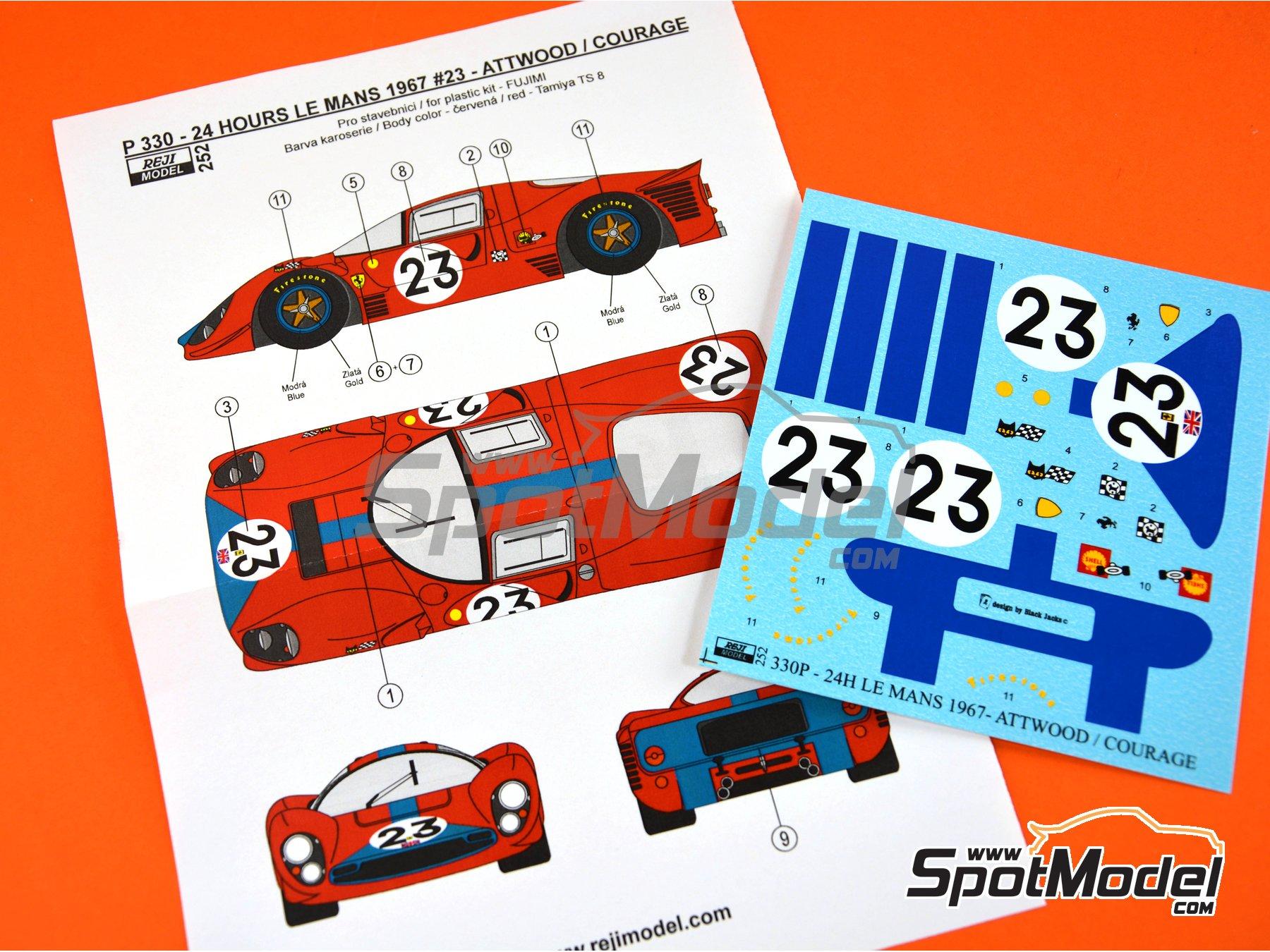 Image 5: Ferrari 330 P4 - 24 Horas de Le Mans 1967 | Decoración en escala1/24 fabricado por Reji Model (ref.REJI-252)