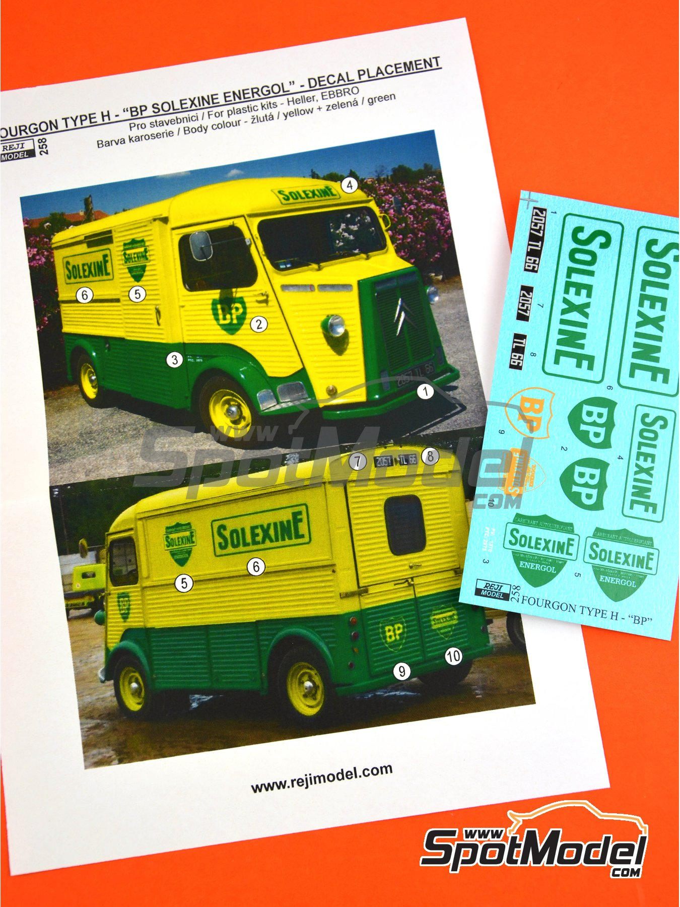 Citroën Type H BP Solexine Energol | Marking / livery in 1/24 scale manufactured by Reji Model (ref. REJI-258) image