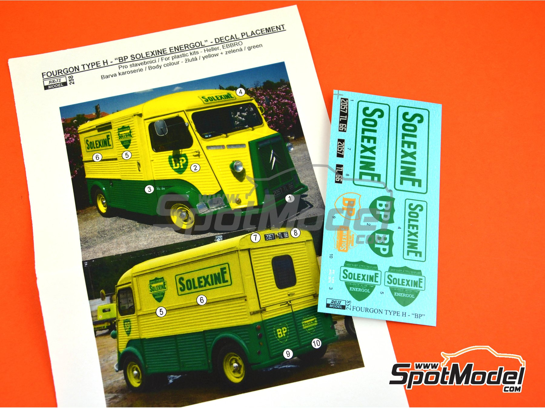 Image 1: Citroën Type H BP Solexine Energol | Marking / livery in 1/24 scale manufactured by Reji Model (ref. REJI-258)