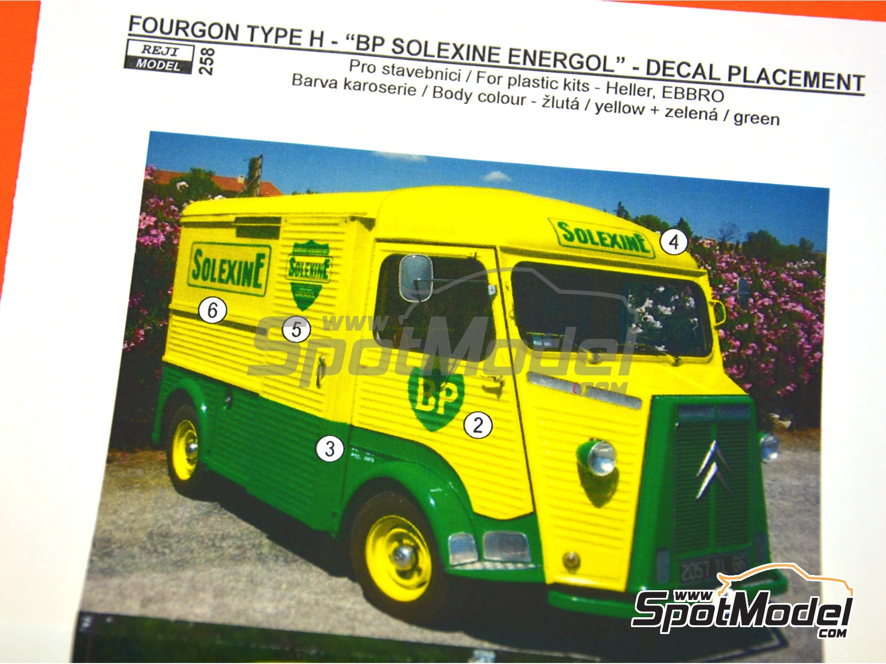 Image 3: Citroën Type H BP Solexine Energol | Marking / livery in 1/24 scale manufactured by Reji Model (ref. REJI-258)