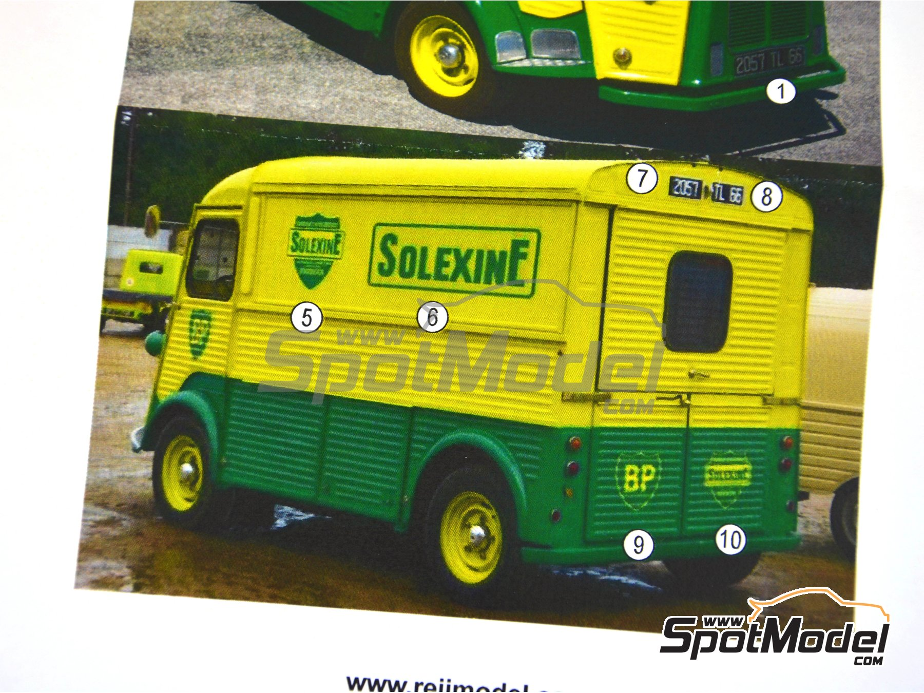 Image 4: Citroën Type H BP Solexine Energol | Marking / livery in 1/24 scale manufactured by Reji Model (ref. REJI-258)