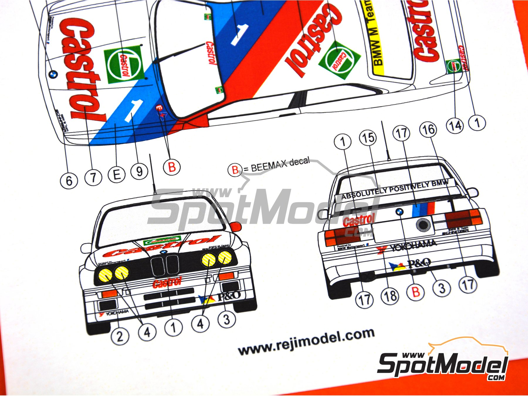 Image 4: BMW M3 E30 - 500 Millas de Wellington 1992 | Decoración en escala 1/24 fabricado por Reji Model (ref. REJI-263)