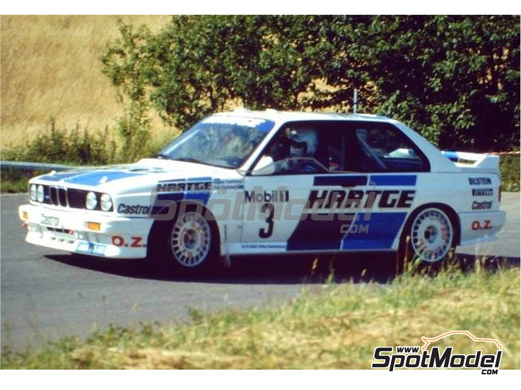 Image 2: BMW M3 E30 Hartge - ADAC Deutschland Rally 1990 | Marking / livery in 1/24 scale manufactured by Reji Model (ref. REJI-265)