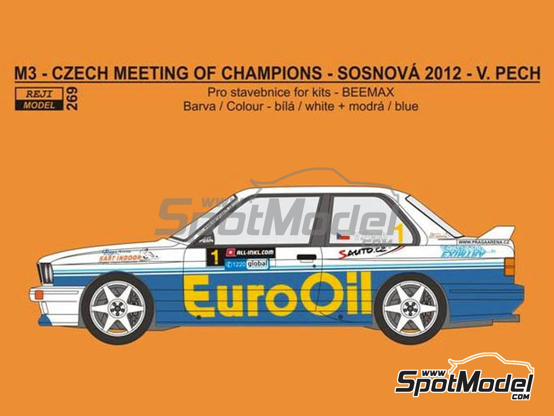 Image 1: BMW M3 E30 - Encuentro de Campeones en el autódromo de Sosnová 2012 | Decoración en escala1/24 fabricado por Reji Model (ref.REJI-269)