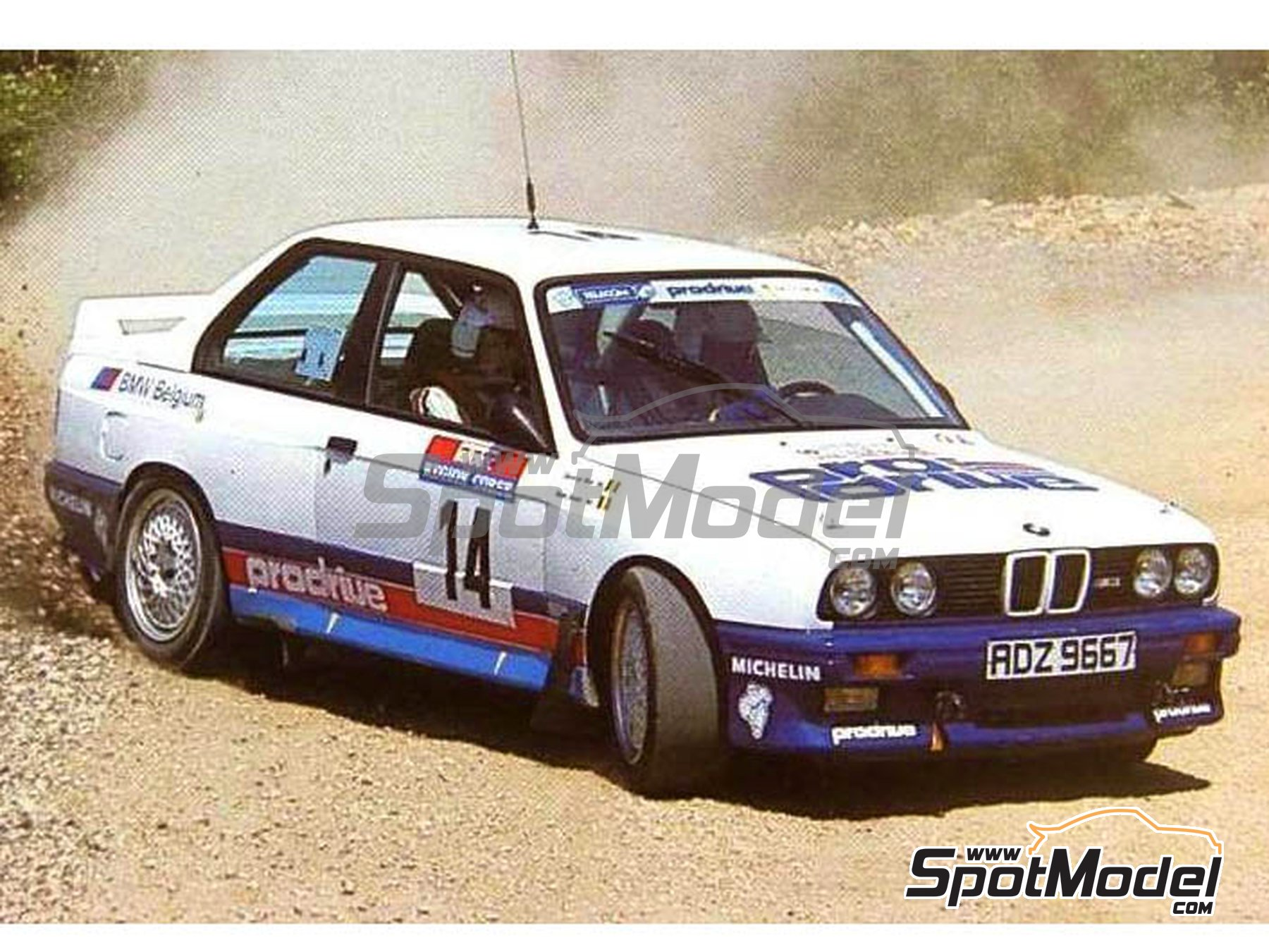Image 2: BMW M3 E30 - Tour de Corse 1987 | Marking / livery in 1/24 scale manufactured by Reji Model (ref. REJI-270)