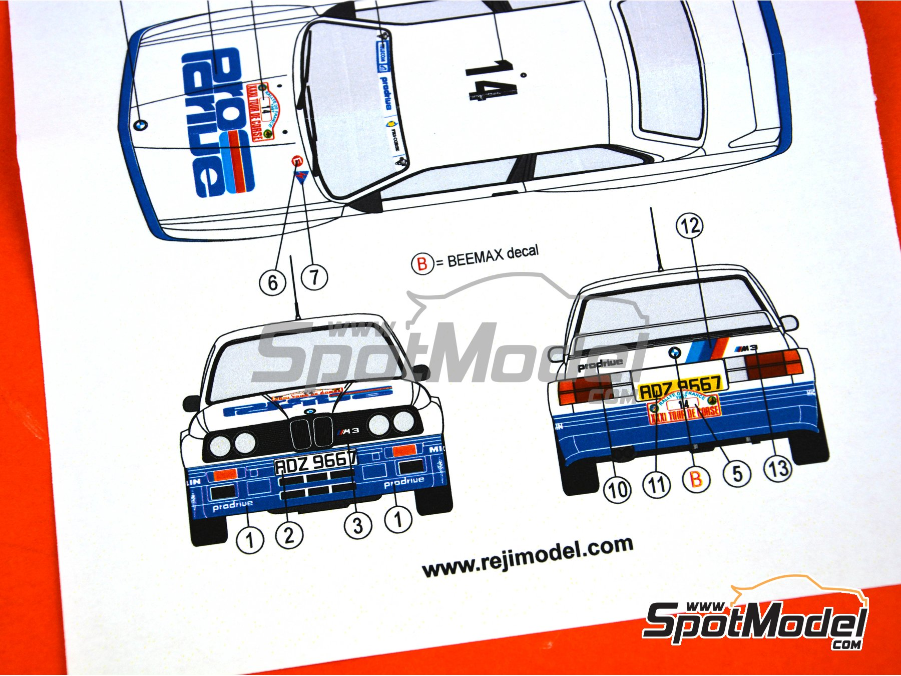 Image 5: BMW M3 E30 - Tour de Corse 1987 | Marking / livery in 1/24 scale manufactured by Reji Model (ref. REJI-270)