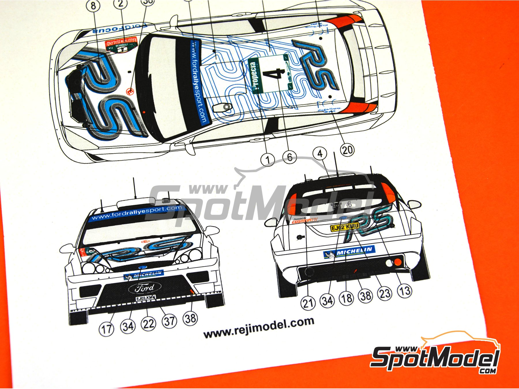 Image 5: Ford Focus WRC - New Zealand rally 2003 | Marking / livery in 1/24 scale manufactured by Reji Model (ref. REJI-271)