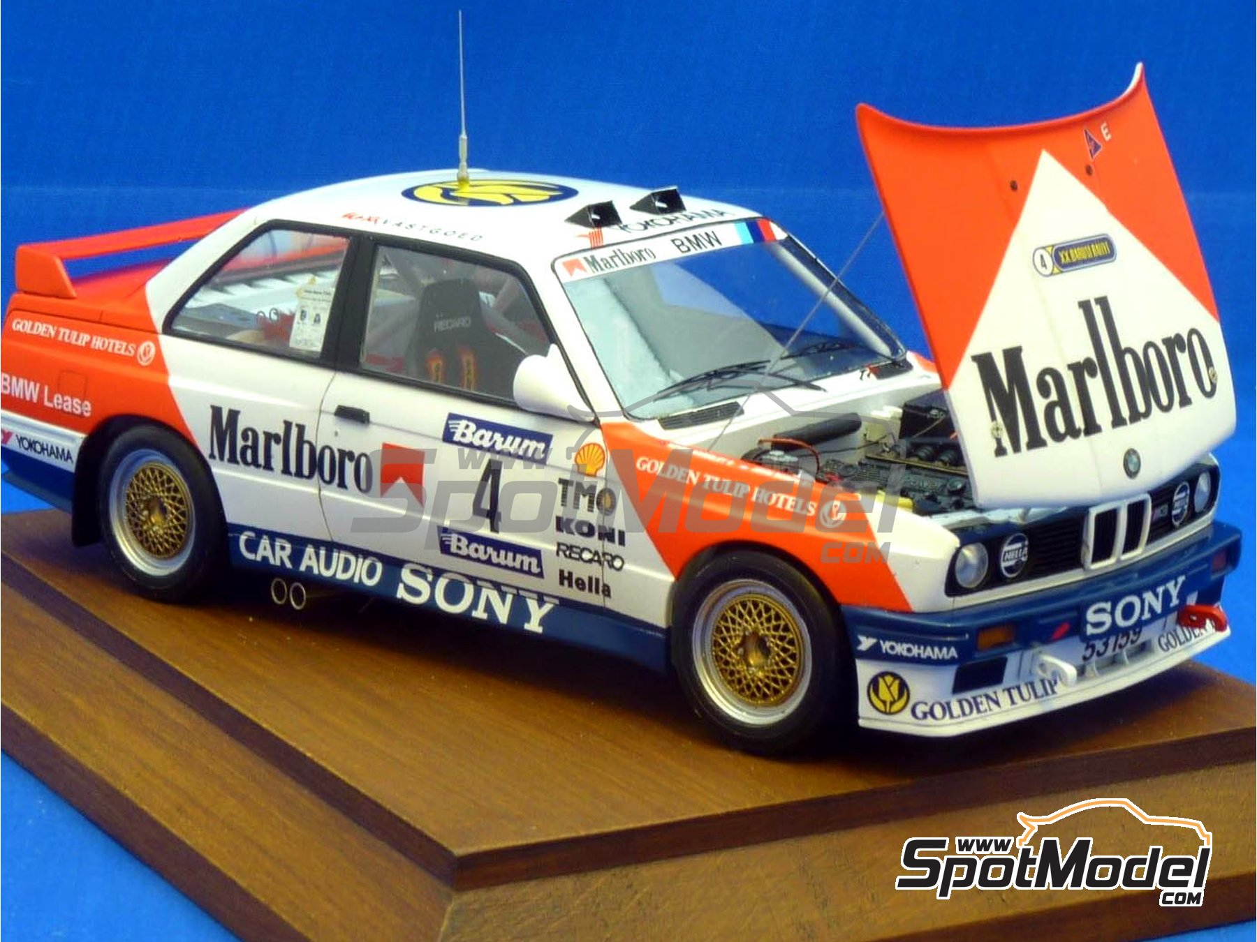 Image 8: BMW M3 E30 Marlboro - Rally Barum de la Republica Checa 1990 | Decoración en escala 1/24 fabricado por Reji Model (ref. REJI-272)