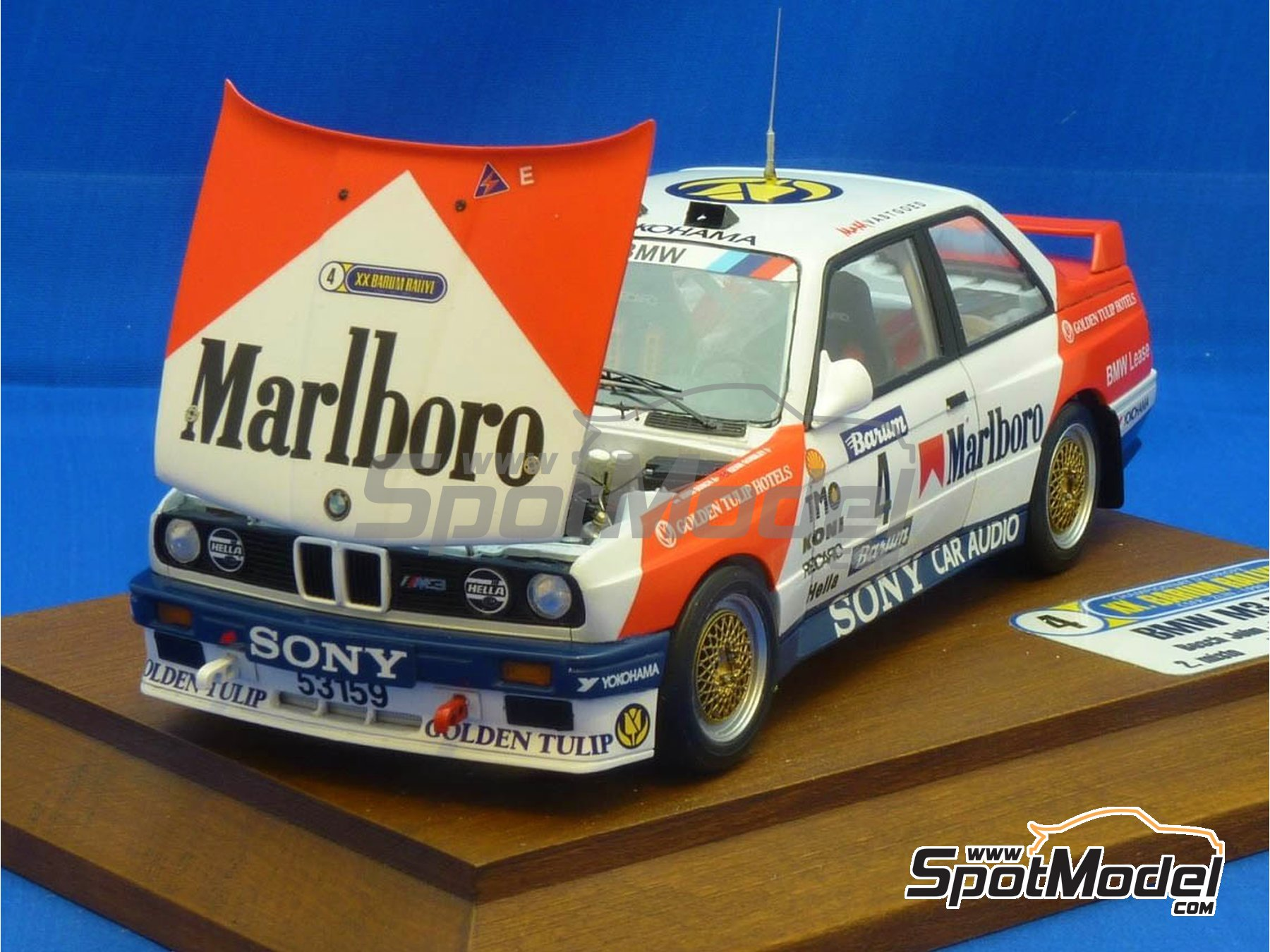 Image 10: BMW M3 E30 Marlboro - Rally Barum de la Republica Checa 1990 | Decoración en escala 1/24 fabricado por Reji Model (ref. REJI-272)
