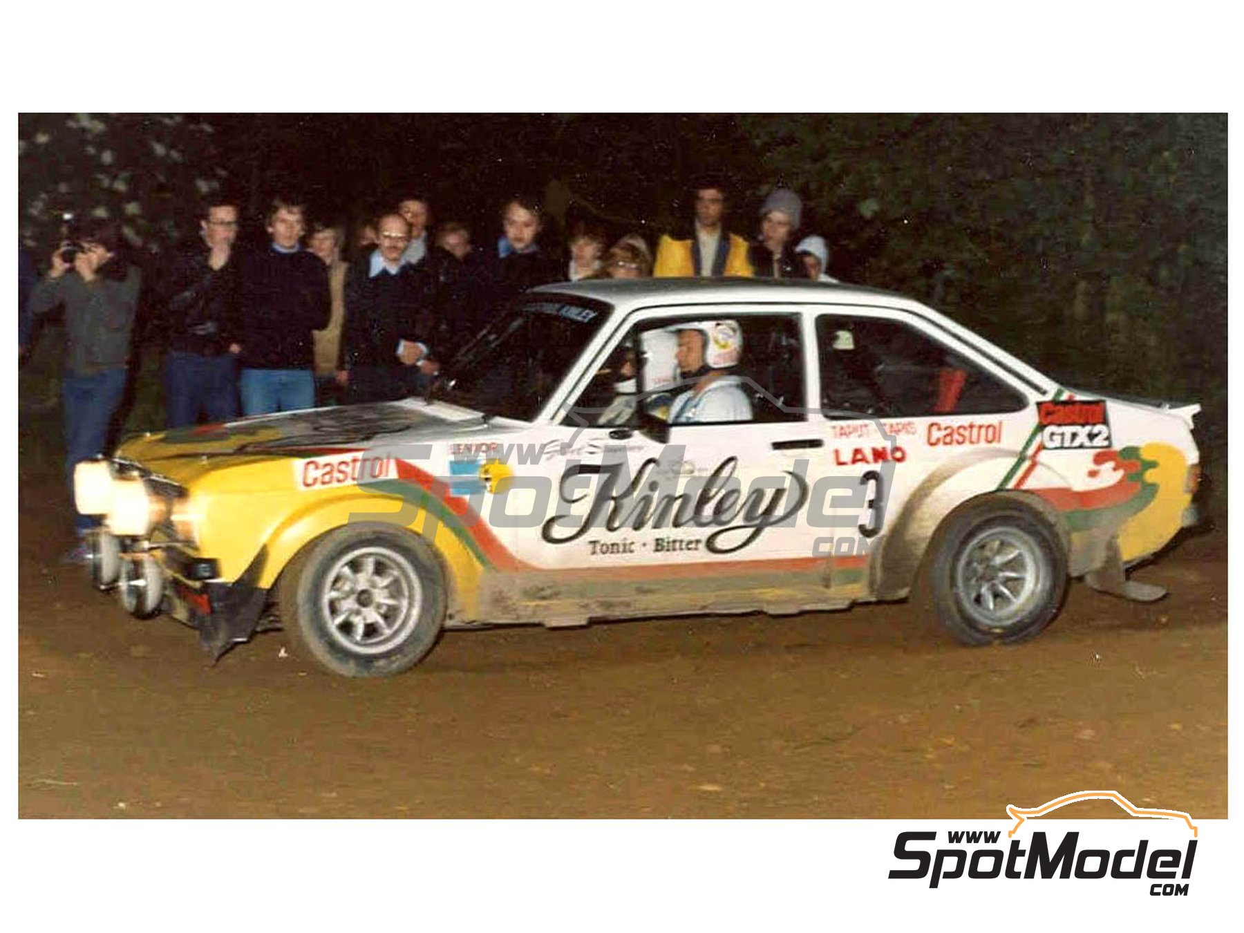 Image 1: Ford Escort RS 1800 Mk. II Kinley - Ypres Rally 1978 | Marking / livery in 1/24 scale manufactured by Reji Model (ref. REJI-274)