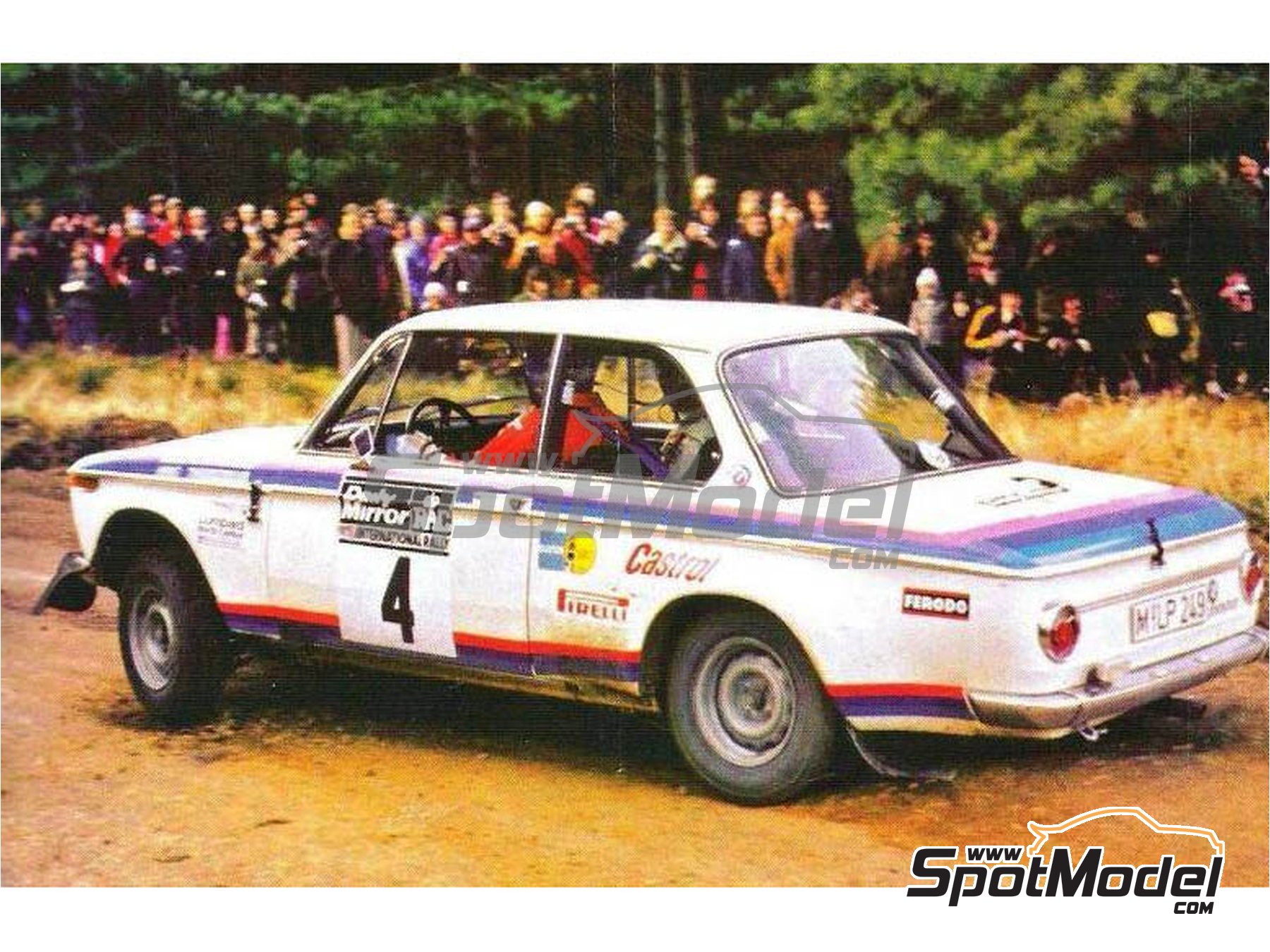 Image 1: BMW 2002 tii Castrol - RAC Rally 1973 | Marking / livery in 1/24 scale manufactured by Reji Model (ref. REJI-276)