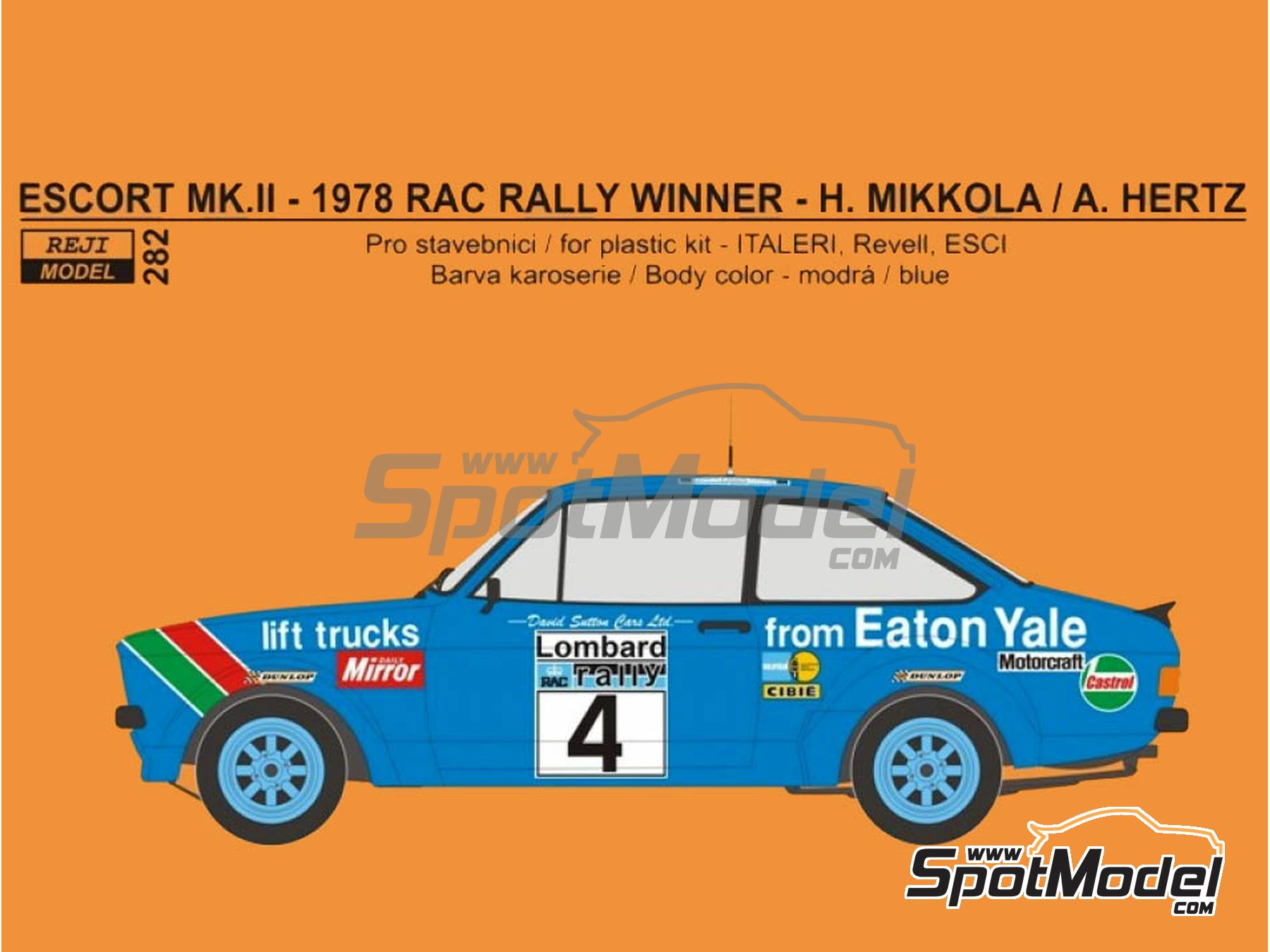Image 2: Lancia Stratos HF Pirelli - Tour de France Automobile 1981 | Marking / livery in 1/24 scale manufactured by Reji Model (ref. REJI-282)