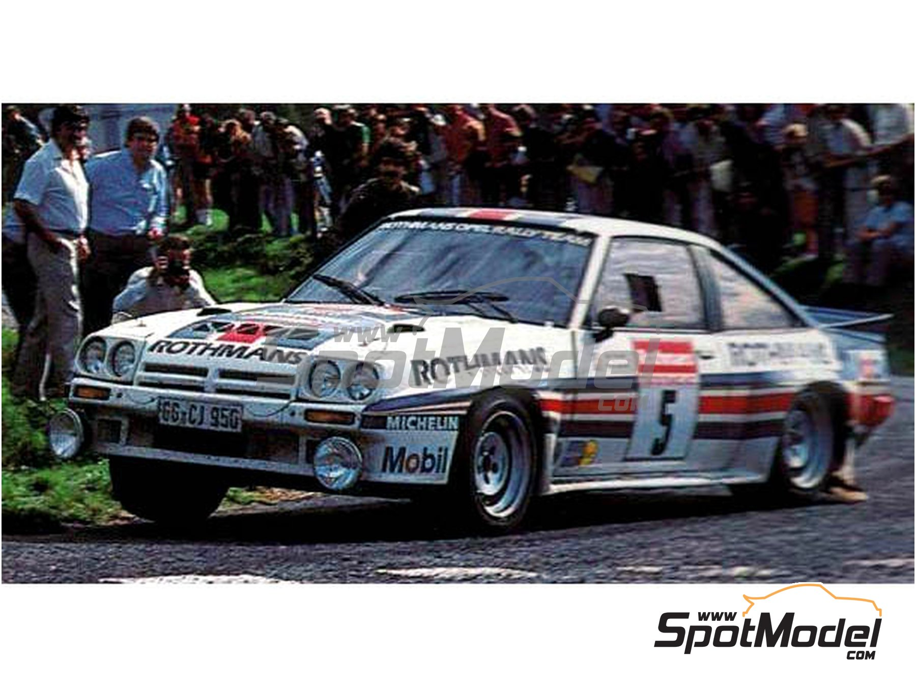 Image 2: Opel Manta 400 Group B Rothmans Opel Rally Team - Tour de France Automobile 1983 | Marking / livery in 1/24 scale manufactured by Reji Model (ref. REJI-283)