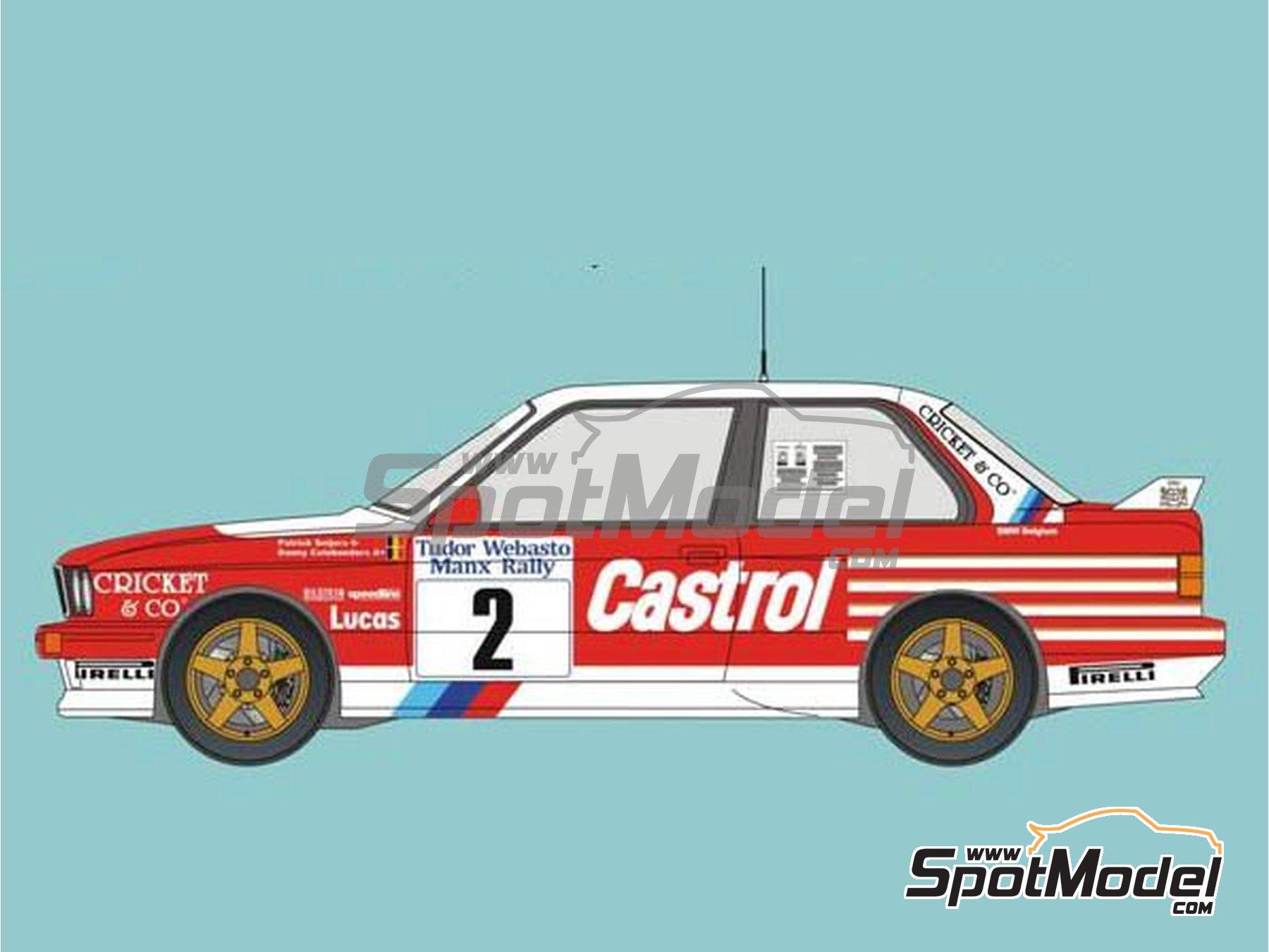 Image 1: BMW M3 E30 Rally Castrol - Tudor Webasto Manx International Rally 1988 | Marking / livery in 1/24 scale manufactured by Reji Model (ref.REJI-286)