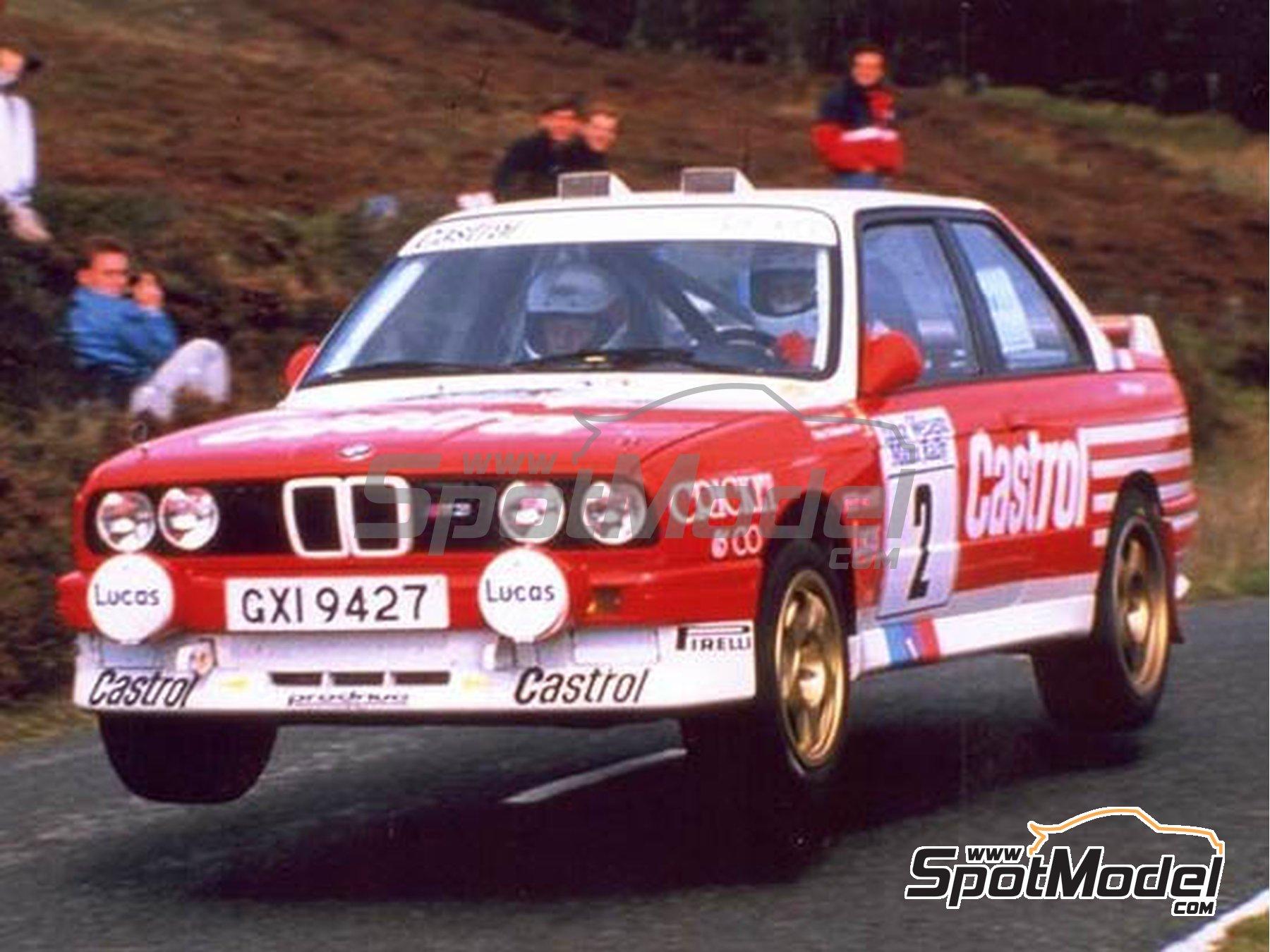 Image 2: BMW M3 E30 Rally Castrol - Tudor Webasto Manx International Rally 1988 | Marking / livery in 1/24 scale manufactured by Reji Model (ref.REJI-286)