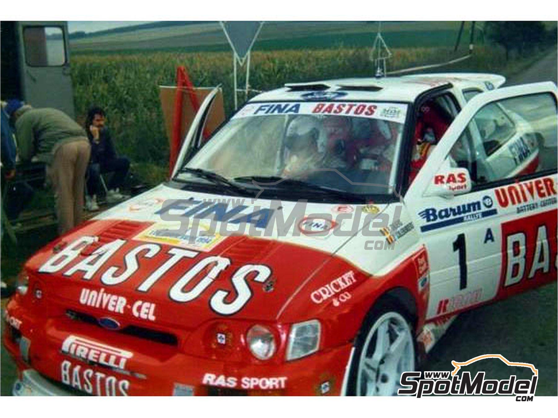 Image 2: Ford Escort RS Cosworth Bastos - Rally Barum de la Republica Checa, Rally de Ypres de Belgica 1994 | Decoración en escala1/24 fabricado por Reji Model (ref.REJI-292)