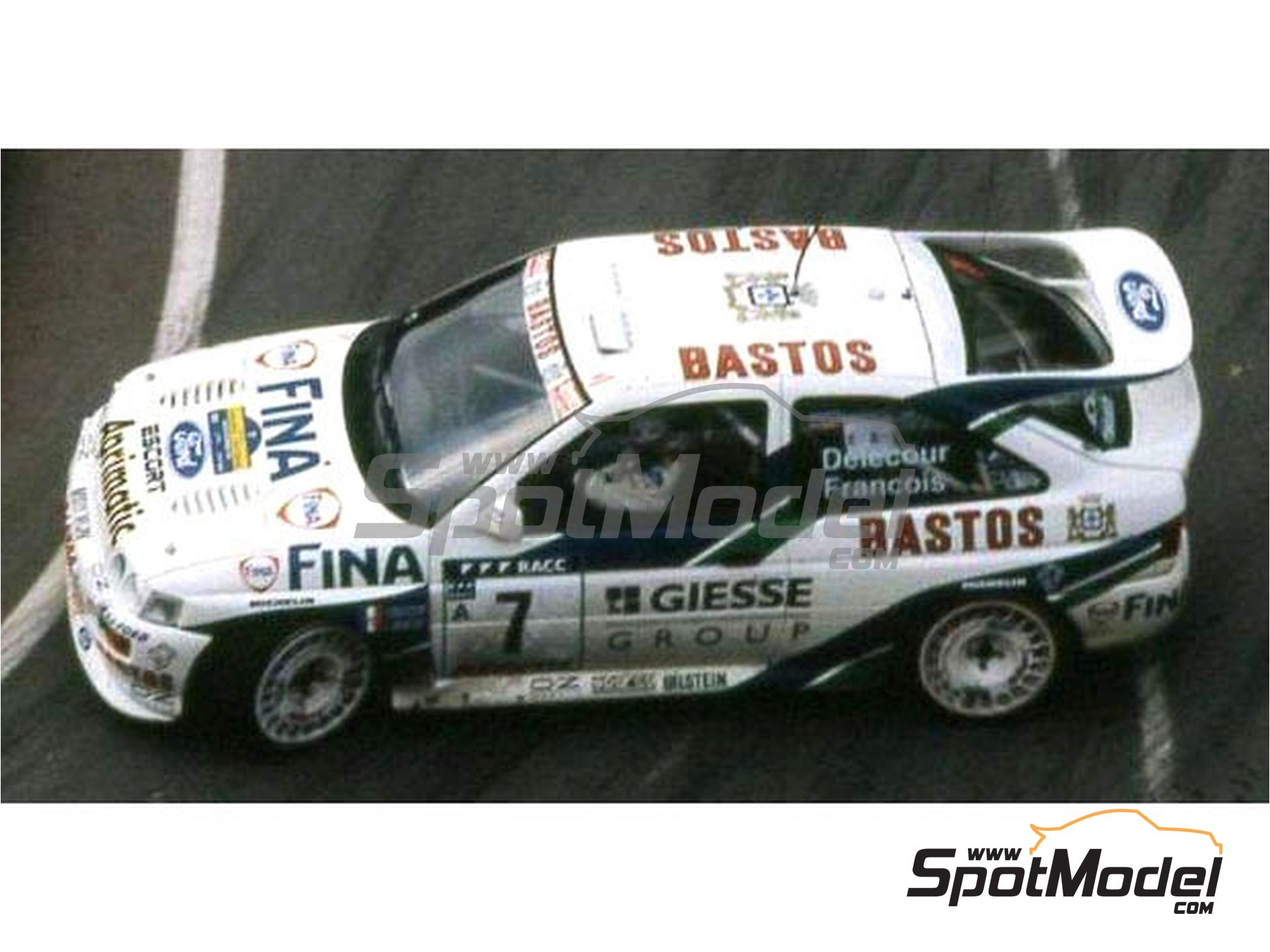 Image 2: Ford Escort RS Cosworth Official Ford Team - Catalunya Costa Dorada RACC Rally 1995 | Marking / livery in 1/24 scale manufactured by Reji Model (ref. REJI-293)
