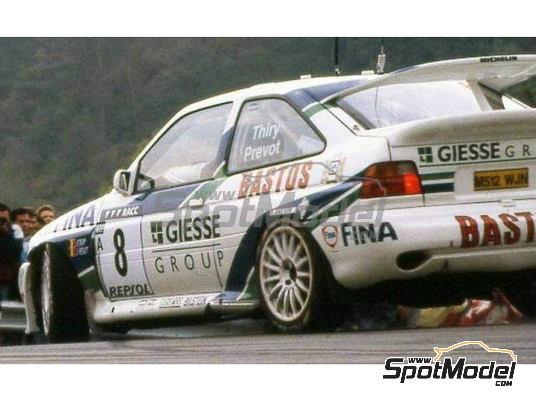 Image 3: Ford Escort RS Cosworth Official Ford Team - Catalunya Costa Dorada RACC Rally 1995 | Marking / livery in 1/24 scale manufactured by Reji Model (ref.REJI-293)