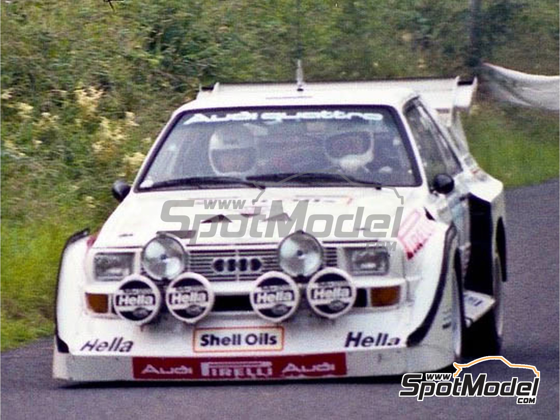 Image 2: Audi Quattro Sport S1 - British Midland Ulster Rally 1985 | Marking / livery in 1/24 scale manufactured by Reji Model (ref.REJI-294)