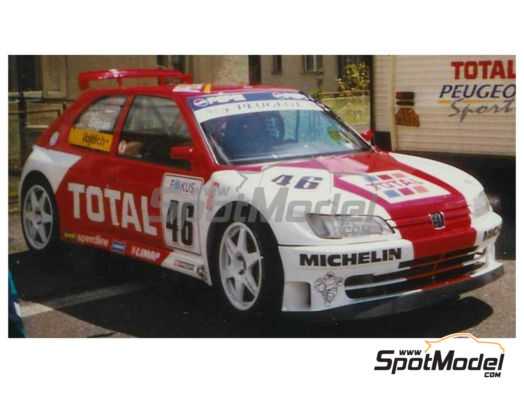 Image 2: Peugeot 306 Maxi Kitcar Total - Czech Rally Championship 1997 | Marking / livery in 1/24 scale manufactured by Reji Model (ref.REJI-296)