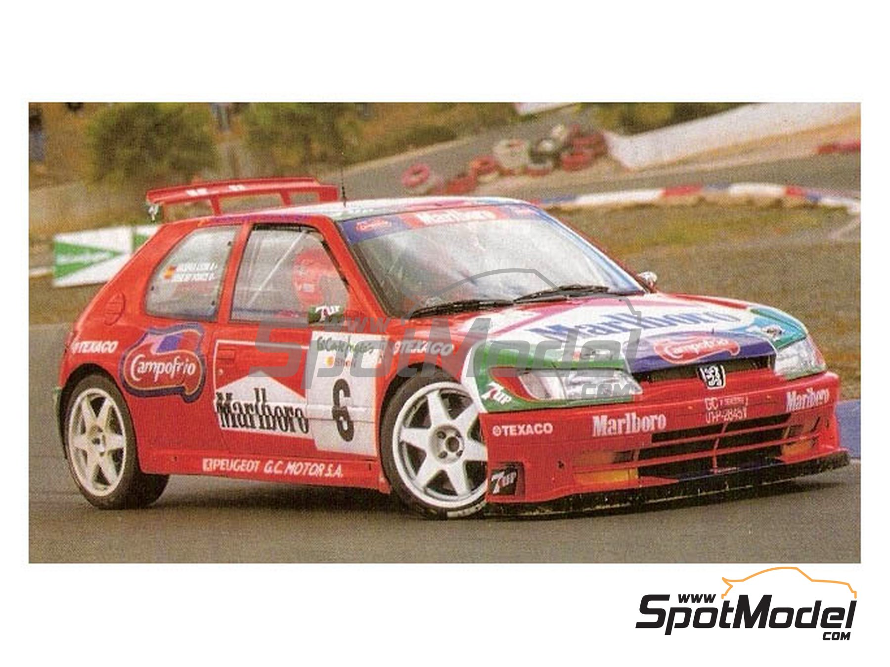 Image 2: Peugeot 306 Maxi Kitcar Marlboro - El Corte Ingles Rally 1999 | Marking / livery in 1/24 scale manufactured by Reji Model (ref. REJI-297)