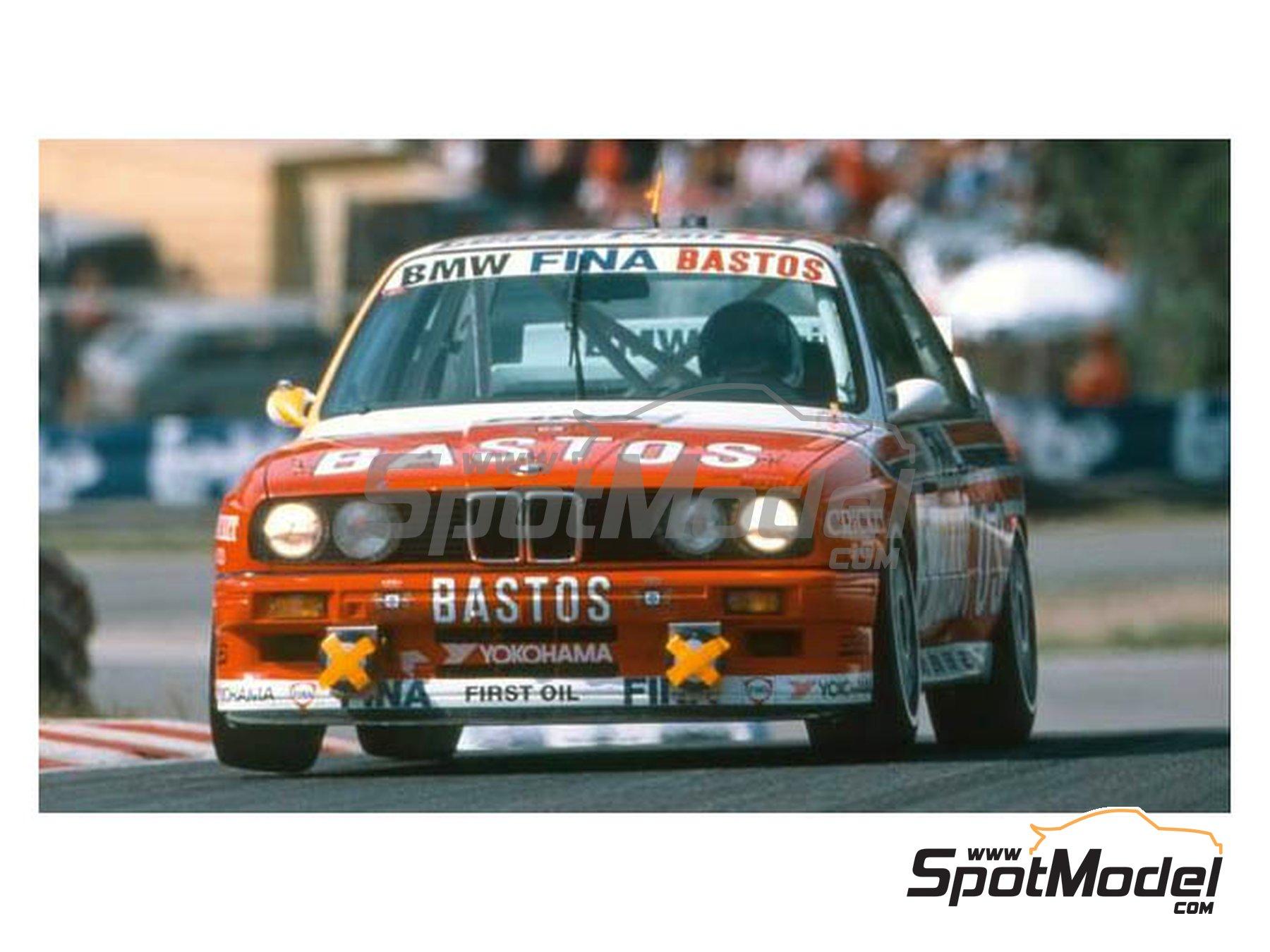Image 1: BMW M3 E30 Fina Bastos Team - 24 Horas de SPA Francorchamps 1992 | Decoración en escala1/24 fabricado por Reji Model (ref.REJI-298, tambien 0298)