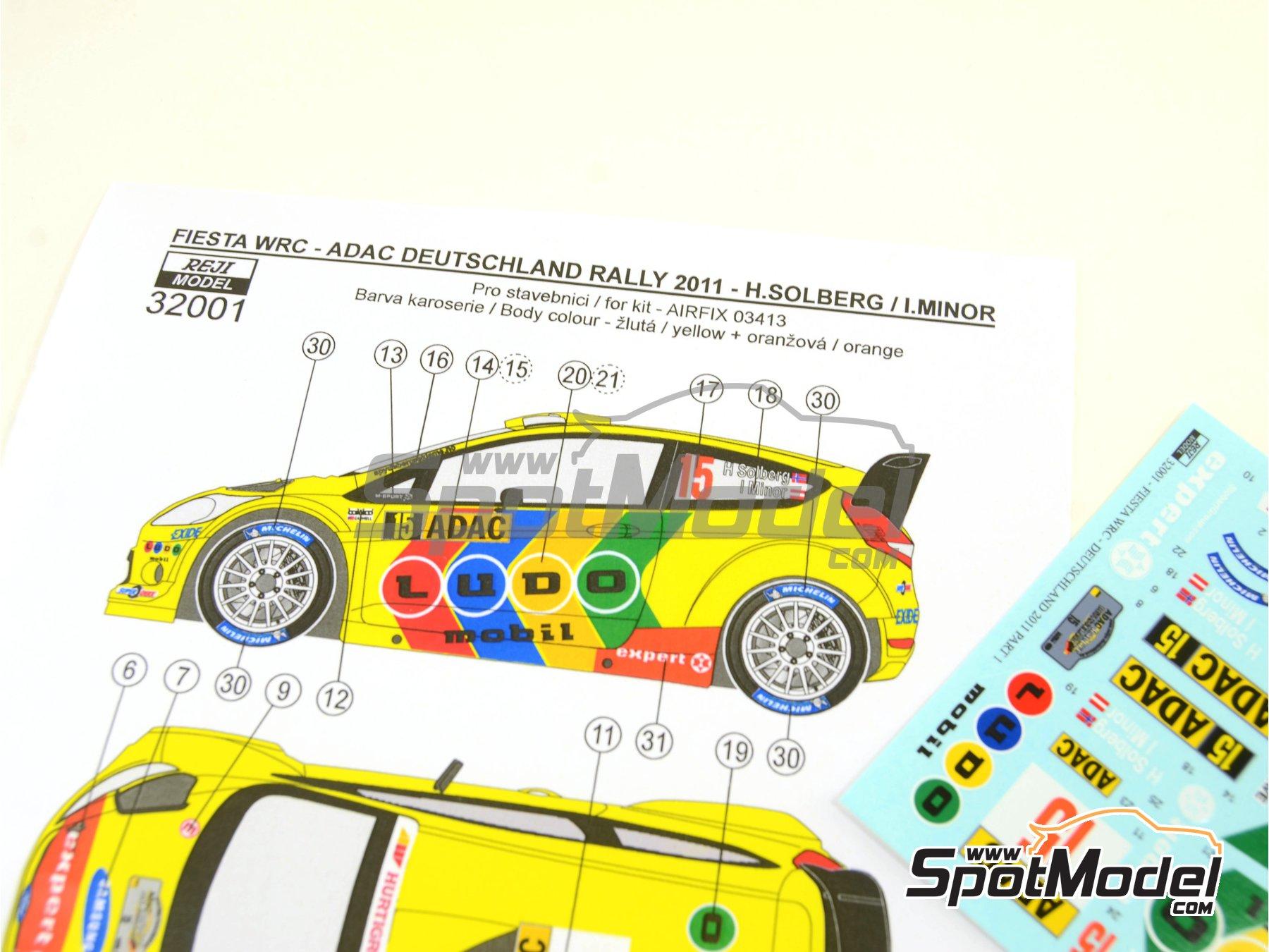 Image 1: Ford Fiesta WRC Ludo Mobil - Rally de Alemania ADAC 2011 | Decoración en escala1/32 fabricado por Reji Model (ref.REJI-32001)