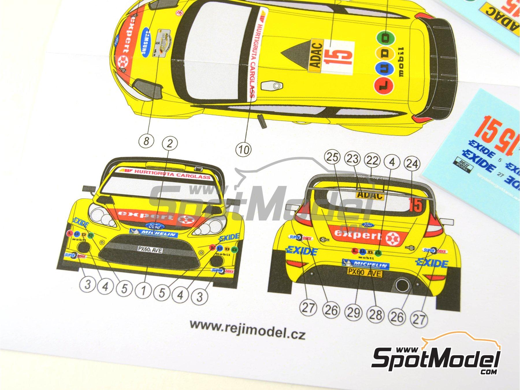 Image 3: Ford Fiesta WRC Ludo Mobil - Rally de Alemania ADAC 2011 | Decoración en escala1/32 fabricado por Reji Model (ref.REJI-32001)