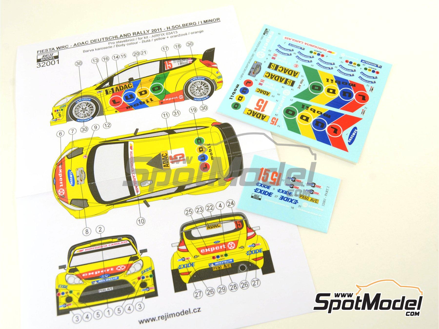 Image 6: Ford Fiesta WRC Ludo Mobil - Rally de Alemania ADAC 2011 | Decoración en escala1/32 fabricado por Reji Model (ref.REJI-32001)