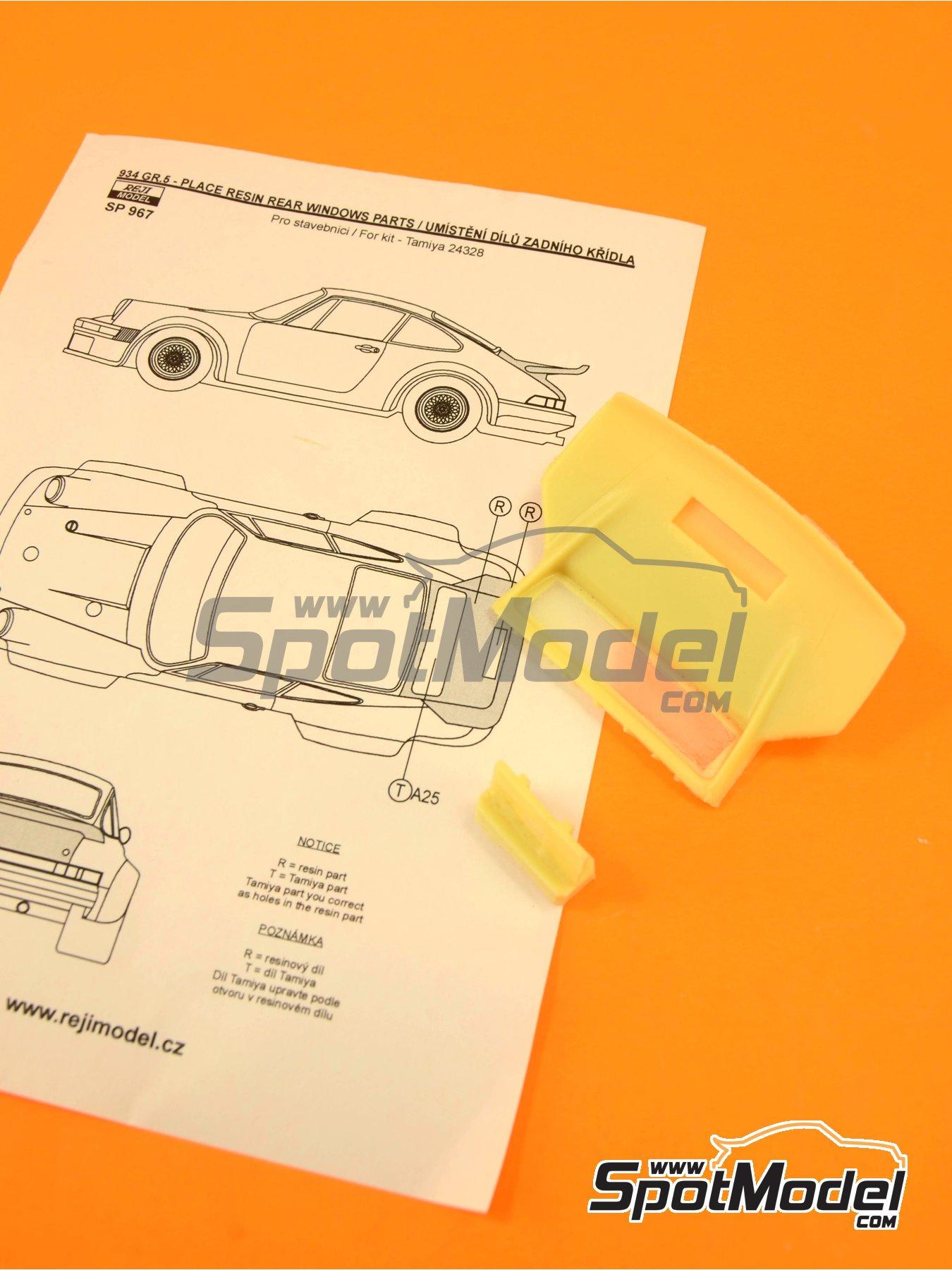 Porsche 934 Turbo RSR Group 4 rear spoiler | Transkit in 1/24 scale manufactured by Reji Model (ref.REJI-SP967) image