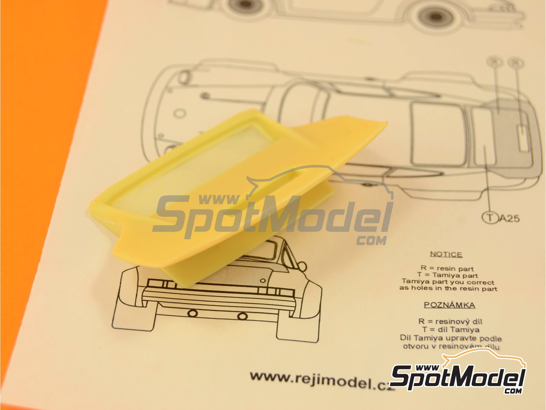 Image 2: Porsche 934 Turbo RSR Group 4 - aleron trasero | Transkit en escala1/24 fabricado por Reji Model (ref.REJI-SP967)