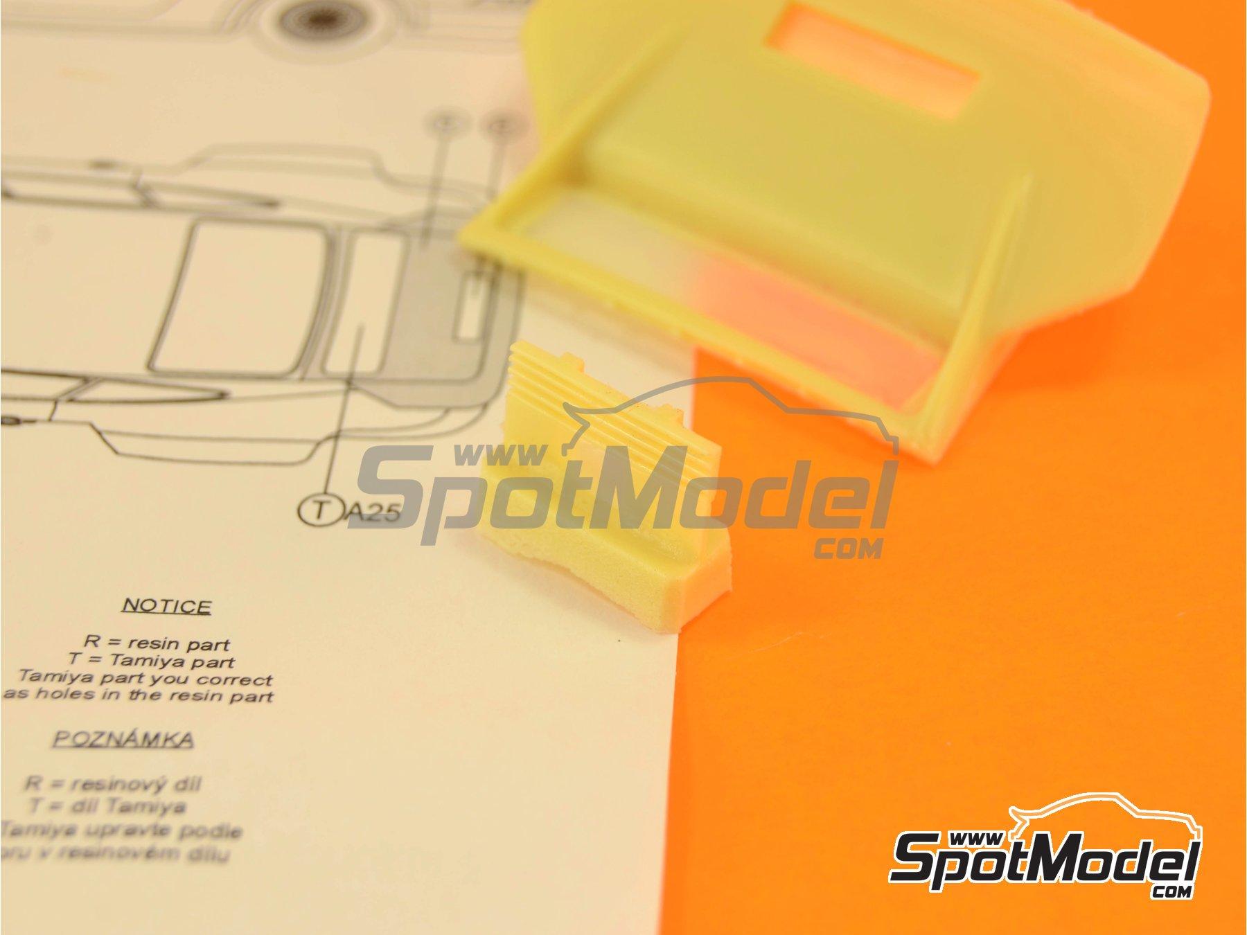 Image 3: Porsche 934 Turbo RSR Group 4 rear spoiler | Transkit in 1/24 scale manufactured by Reji Model (ref.REJI-SP967)