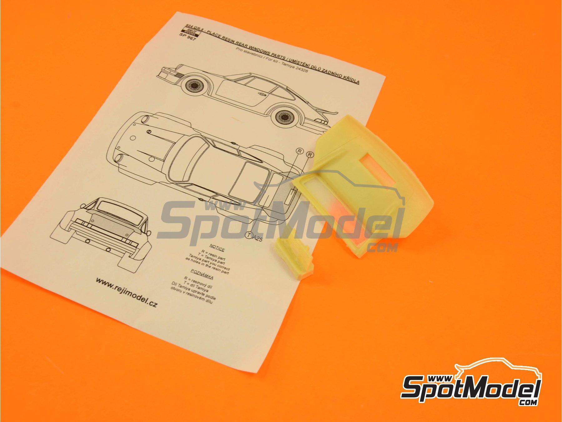 Image 5: Porsche 934 Turbo RSR Group 4 rear spoiler | Transkit in 1/24 scale manufactured by Reji Model (ref.REJI-SP967)