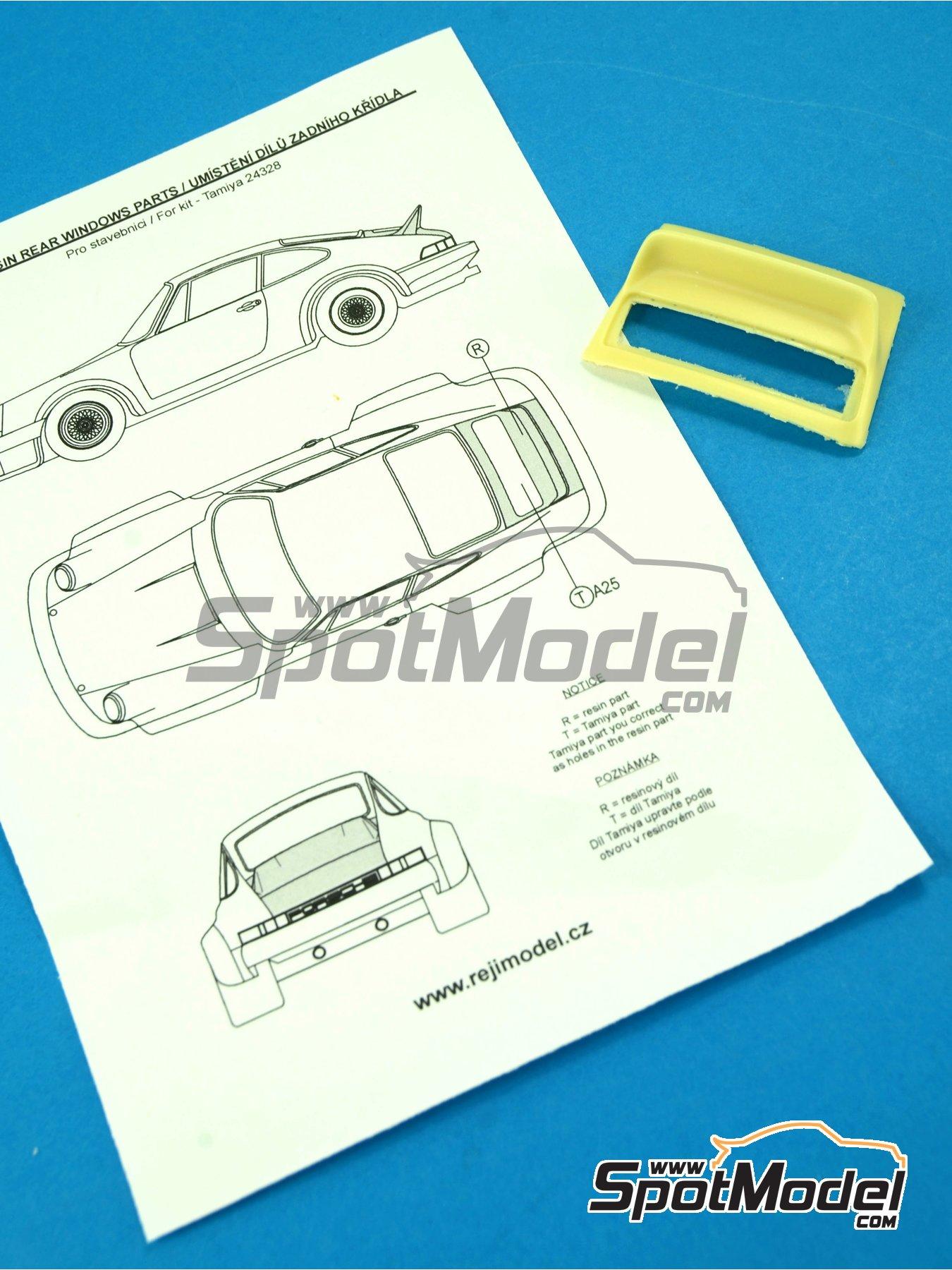Porsche 911 ducktail rear spoiler - aleron trasero de pico de pato   Transkit en escala1/24 fabricado por Reji Model (ref.REJI-SP968) image